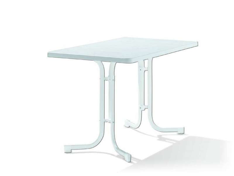 Boulevard - zahradní stůl sklápěcí bílý