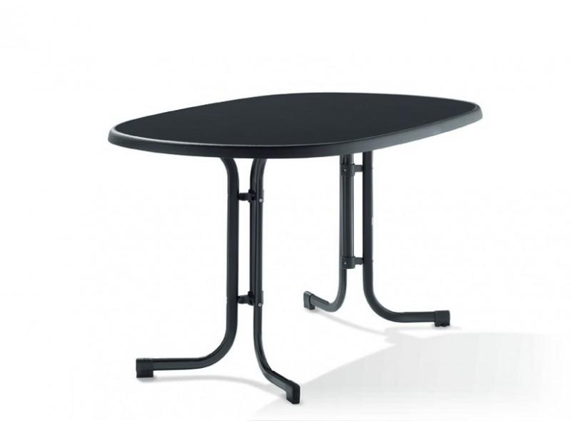 Zahradní stůl  sklápěcí ovál 140/90